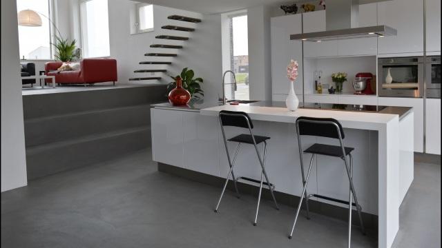 Vloeren Op Beton : Betondesign vloeren: strakke en mooie betonvloeren